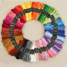 50 Color Egyptian Cross Stitch Cotton Sewing Skeins Embroidery Thread Floss  NW