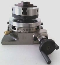 """Rotary Table 3""""/75mm w/65mm Lathe Chuck Horizontal & Vertical For Milling Machin"""