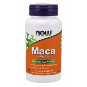 NOW FOODS Maca 500 mg 100 Caps, Energizing Herb Rich in Saponins FREE SHIP