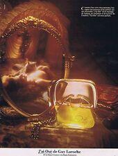 PUBLICITE ADVERTISING 045 1979 GUY LAROCHE j'ai osé parfum