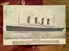 RARE ILLUSTRATED TITANIC POSTCARD APRIL 29, 1912 POSTMARK STAMP WHITE STAR LINE