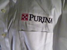 PURINA Pet Food Animals White Button Down Shirt Size 17 1/2 34/35
