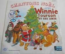 45T CHANTONS NOEL AVEC WINNIE L'OURSON - WALT DISNEY CHANNEL - JEAN ROCHEFORT