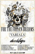 FOR THE FALLEN DREAMS / VARIALS 2017 USA CONCERT TOUR POSTER - Metalcore Music