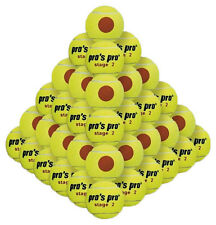 Pro's Pro Stage 2 Orange Junior Tennis Balls 60 Pack