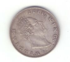 British India 1835 F one rupee silver coin King William Good grade 27  .