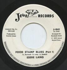 Rare Blues 45 - Eddie Lang - Food Stamp Blues - Jewel Records - M-
