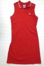 Women Tennis Dress Size Medium M Sleeveless Vintage REEBOK Red Cotton Blend mi11