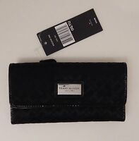 TOMMY HILFIGER WOMEN'S BROWN BLUE BLACK TAN WALLET (CLUTCH PURSE CHECKBOOK) NWT