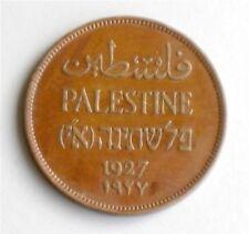 Israel Palestine British Mandate 2 Mils 1927 Coin XF