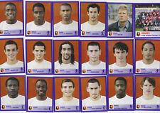 PANINI FOOTBALL 2006 RENNES LOT DE 18 IMAGES