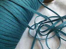 biais vintage ruban plat cordon fin bleu paon lacet corsage 10 mètre