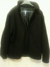 Roundtree & Yorke Outdoor 100% Wool Black 3/4 Coat Lined L Jacket Poland EUC