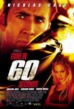 GONE IN 60 SECONDS Movie POSTER 27x40 Nicolas Cage Angelina Jolie