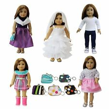 """6 Pcs American Girl Doll Clothes and Accessories Set 