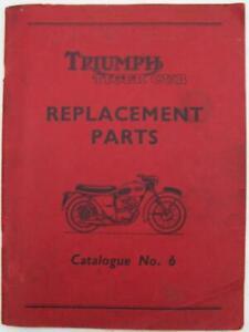TRIUMPH Tiger Cub Illustrated Motorcycle Parts List Mar 1959 #No.6 #481/59
