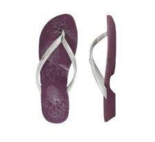 Oakley Dartboard Purple Silver Size 6 US Womens Girls Sandals Flip Flops Thongs