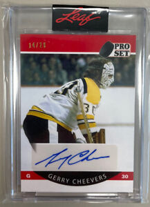 2021 LEAF PRO SET MEMORIES GERRY CHEEVERS AUTO # /20  Bruins