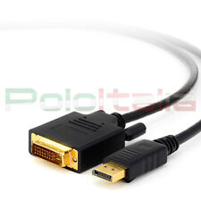 Cavo da 1 a 10m DisplayPort to DVI-D cable adattatore prolunga video hd tv 4k pc