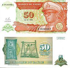 Zaire 50 Zaires Banknote World Money Africa Currency Congo Bill p51 Mobutu Congo