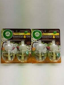 (2) Air Wick Scented Oil Essential Oils Twin Refill (Paradise Retreat)