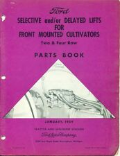 FORD PARTS BOOK Front Mounted Cultivators Lifts #PA-6995 (AF-6)
