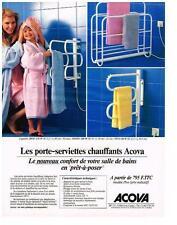 PUBLICITE  1997   ACOVA  porte serviettes chauffants
