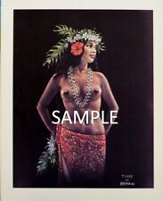 Polynesian Print by Artist Louis Behan - Tiare