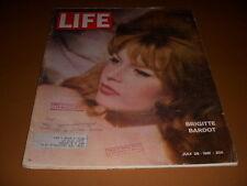 Life Magazine, July 28, 1961, Brigitte Bardot Photo Cover, Latin America Series!