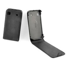 custodia in eco PELLE FLIP nera per SAMSUNG i9000 GALAXY S i9001 GALAXY S PLUS