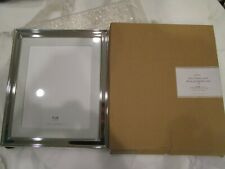 Pottery Barn silver frame with white  grosgrain Mat  8 X 10 New in box