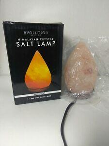 Evolution Salt Himalayan Crystal Salt Raindrop Lamp, 1 Lamp with Cord and Bulb