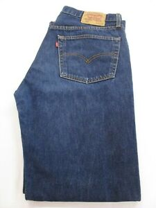 LEVIS 501, GRADE A, Dark Blue Straight Leg Levi Jeans, W38 L34 -SEE DESCRIPTION