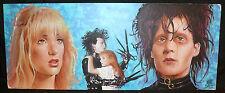 Edward Scissorhands Painted Art - Johnny Depp Winona Ryder Signed by Matt Busch