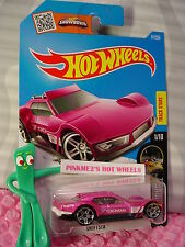 2016 i Hot Wheels DRIFTSTA #81✰Pink/White; YOKOHAMA✰Night Burnerz✰Case N