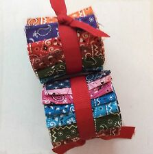 2.5 inch Bandana Jelly Roll 100% cotton fabric quilting strips