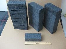 "Lot of 10 Blocks Black Polyethylene Foam_7-1/4"" x 3"" x 2-1/8"""