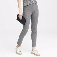 Banana Republic Sloan Sz 2 Gray Skinny Pant Textured Cropped Ankle Trouser