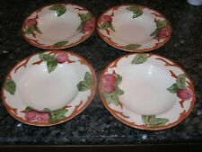 "4 New Franciscan Apple Flat Rimmed Soup Bowls 8 1/2 ""  England"