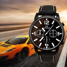 GT Mode Herren Uhren Edelstahl Analog Quarz Luxus Sport Armbanduhren Watches
