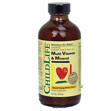 ChildLife Multi Vitamin & Mineral 8 Fl Oz. Natural Orange/Mango Flavor FREE SHIP