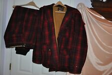 Vintage Woolrich   Plaid Wool Hunting Jacket 46 501  & Pants Set 38