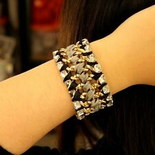 Bracelet Female Fabric Weaving Crystal Original Evening Marriage Gift CT3