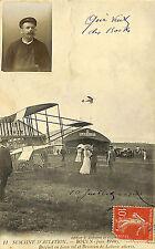 ROUEN AVIATION CARTE POSTALE BRUNEAU DE LABORIE BREGUET 1910