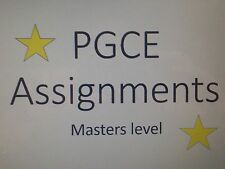PGCE Assignments (Masters level graded Essays with feedback)