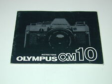 OLYMPUS notice OM-10 INSTRUCTIONS in english anglais photo photographie