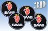 Wheel stickers Saab all size Centre Cap Logo Badge Wheel Trims 3d 50mm