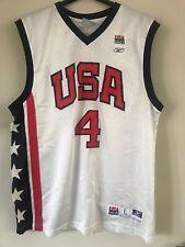CANOTTA NBA ORIGINALE REEBOK ALLEN IVERSON NAZIONALE USA BASKETBALL LARGE HIPHOP