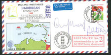 More details for autographed cricket cover - signed m atherton & a fraser  - caribbean tour 1998