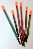 Set 6 x PREMIER Traditional Reed Waggler Floats, still water, canal fishing